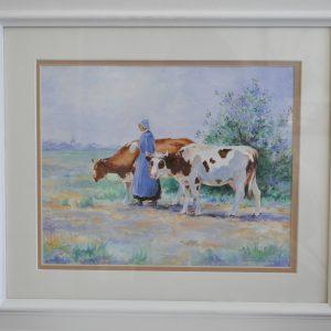 Cows & Girl
